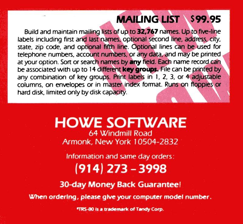 ad-mailinglist(howe)