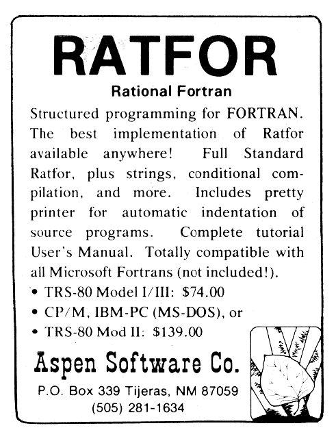 ad-ratfor(aspen)